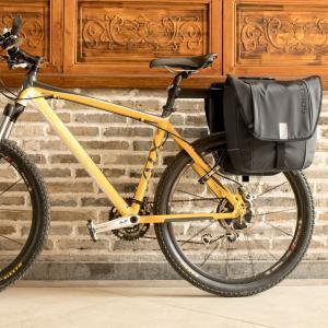 自転車パニアバッグ 30L 左右一体型 フラップトップ式 リアキャリアバッグ 大容量 2ndcycle