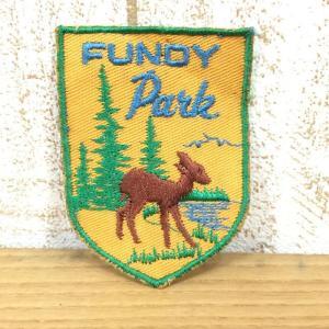 ワッペン FUNDY NATIONAL PARK 希少モデル ウェアやザックをカスタマイズ 写真にてご確認下さい クリアー系 2ndgear-outdoor