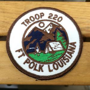 ワッペン TROOP 220 FT POLK LOUISIANA 希少モデル ウェアやザックをカスタマイズ 写真にてご確認下さい クリアー系 2ndgear-outdoor