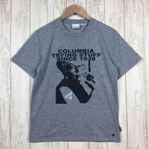 コロンビア COLUMBIA グレタ フィーバー ショートスリーブ Tシャツ  MEN's S グレー系 2ndgear-outdoor