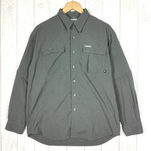 コロンビア COLUMBIA GRT ジップオフ クイックドライ シャツ  MEN's M グリーン系 2ndgear-outdoor