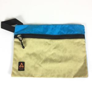 ミステリーランチ MYSTERY RANCH フラット バッグ FLAT BAG Mサイズ アメリカ製 ブルー×タン 希少モデル 希少色 M ブルー×|2ndgear-outdoor