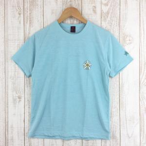 モンベル MONTBELL WIC.ライトTシャツ ウーマンズ ワンポイント・フラワー  Asian WOMEN's M ブルー系|2ndgear-outdoor