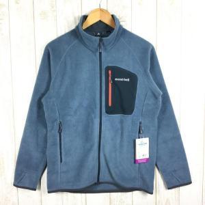 モンベル MONTBELL クリマプラス100 ジャケット  Asian MEN's S STBL スレートブルー ブルー系|2ndgear-outdoor