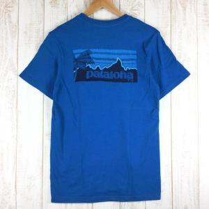 パタゴニア PATAGONIA パタロハ ロゴ Tシャツ 希少モデル International MEN's XS ブルー系|2ndgear-outdoor