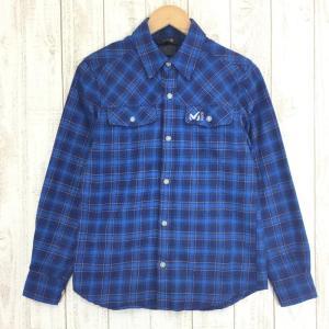 ミレー アルピーユ ロングスリーブ シャツ ALPILLES LS SHIRT MILLET MIV0699 MEN's XS ブルー系|2ndgear-outdoor