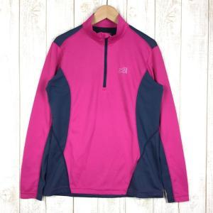 ミレー MILLET LD ブレヴァン ジップ ロングスリーブ  WOMEN's M ピンク系|2ndgear-outdoor