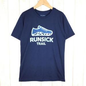 ランシック RUNSICK トレイル Tシャツ TRAIL T-SHIRTS  MEN's S ネイ...