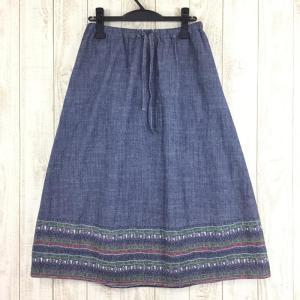 チャムス CHUMS シャンブレー ロング スカート  WOMEN's M ネイビー系|2ndgear-outdoor
