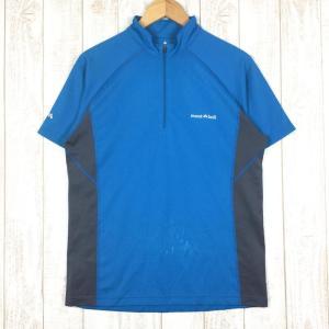 モンベル MONTBELL クール ハーフスリーブジップシャツ  Asian MEN's L ブルー系|2ndgear-outdoor