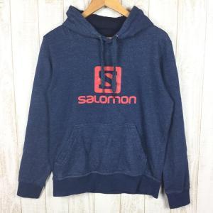 サロモン SALOMON ロゴ フーディ LOGO HOODIE  MEN's S ネイビー系|2ndgear-outdoor