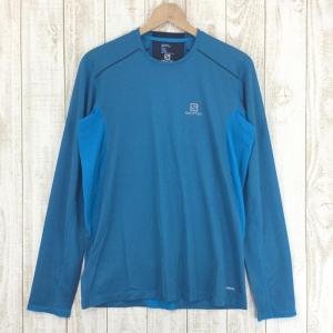 サロモン SALOMON トレイルランナー ロングスリーブ ティー TRAIL RUNNER LS TEE  MEN's M ブルー系|2ndgear-outdoor