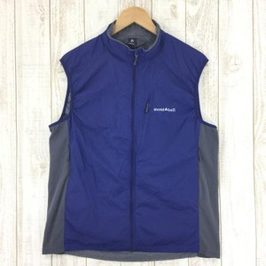 モンベル MONTBELL ライト シェル ベスト  Asian MEN's L ブルー系|2ndgear-outdoor