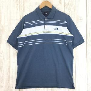 ノースフェイス NORTH FACE ショートスリーブ クイックドライ ポロシャツ  Asian MEN's L ブルー系 2ndgear-outdoor