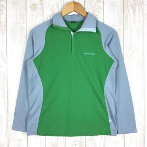 モンベル MONTBELL WIC.ブリーズスパン ハイネック クリックシャツ  Asian WOMEN's M グリーン系|2ndgear-outdoor