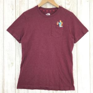 ノースフェイス NORTH FACE Tシャツ 韓国モデル  MEN's L レッド系 2ndgear-outdoor