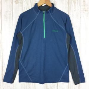 コロンビア COLUMBIA ビッグローレル ロングスリーブ ハーフジップ  MEN's M ブルー系 2ndgear-outdoor
