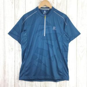 サロモン SALOMON JP ジオメトリック ティー JP GEOMETRIC TEE  Asian MEN's XL ブルー系|2ndgear-outdoor
