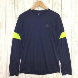 サロモン SALOMON アジャイル ロングスリーブ Tシャツ AGILE LS TEE  MEN's M ネイビー系|2ndgear-outdoor