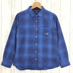 ミレー MILLET フルチア ウール ロングスリーブ シャツ  WOMEN's S ブルー系|2ndgear-outdoor