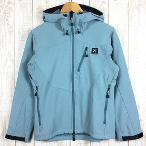 ホグロフス HAGLOFS フリースラインド ソフトシェル フーディ  International WOMEN's M ブルー系|2ndgear-outdoor