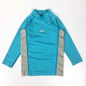 モンベル キッズ アクアボディ ロングスリーブシャツ ラッシュガード MONTBELL 1127350 KID's 100 ブルー系|2ndgear-outdoor