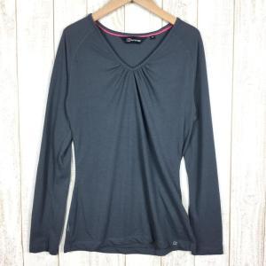 バーグハウス ウィメンズ アルゲンティウム ツー ロング スリーブ ティシャツ BERGHAUS 34584 WOMEN's 10 チャコール系|2ndgear-outdoor