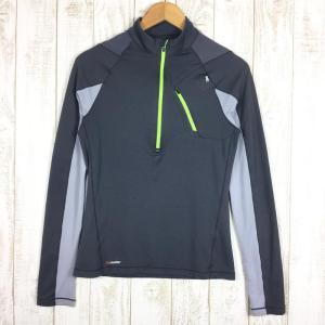 ミレー MILLET ロングスリーブ ミッドウェイト ジップネック シャツ  International MEN's S グレー系|2ndgear-outdoor