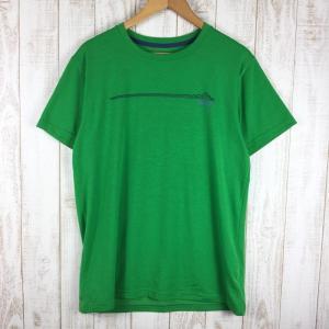 マウンテンハードウェア MOUNTAIN HARDWEAR トポ テック ショートスリーブ Tシャツ  MEN's M グリーン系 2ndgear-outdoor