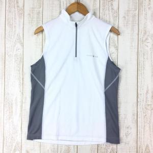モンベル クール ノースリーブジップシャツ MONTBELL 1104789 Asian MEN's M ホワイト系|2ndgear-outdoor