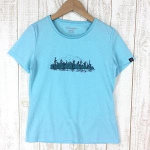 バーグハウス ショートスリーブ グラフィック Tシャツ BERGHAUS WOMEN's S ブルー系|2ndgear-outdoor