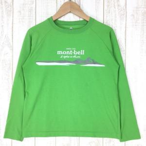 モンベル WIC.ロングスリーブTシャツ Light & Fast キッズ MONTBELL 1114199 KID's 150 グリーン系|2ndgear-outdoor