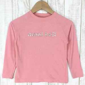 モンベル WIC ロングスリーブT Kids MONTBELL 1104902 Asian KID's 110 ピンク系|2ndgear-outdoor