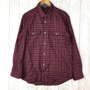 モンベル メリノウール トレールシャツ MONTBELL 1104863 Asian MEN's L レッド系|2ndgear-outdoor