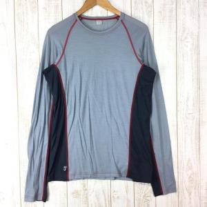 ラブ メコ 120 ロングスリーブ Tシャツ Meco 120 LS Tee RAB QBT-11 International MEN's M グレー|2ndgear-outdoor