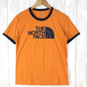 ノースフェイス リンガー Tシャツ RINGER TEE NORTH FACE NT81570 Asian MEN's L オレンジ系|2ndgear-outdoor