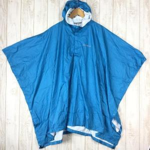 モンベル スーパーハイドロブリーズ レインポンチョ ジュニア MONTBELL 1128481 KID's 140 ブルー系|2ndgear-outdoor