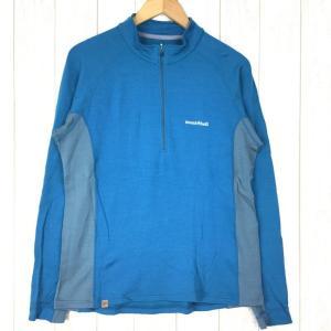 モンベル メリノウールプラス アクション ジップネック MONTBELL 1104972 Asian MEN's L ブルー系|2ndgear-outdoor