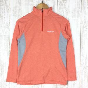 モンベル ウイックロン ZEO ロングスリーブ ジップシャツ Womens MONTBELL 1104941 Asian WOMEN's M オレンジ|2ndgear-outdoor