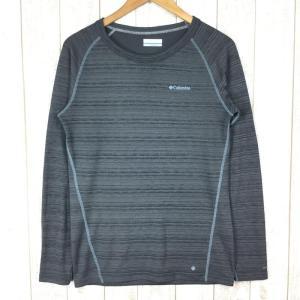 【MEN's M】コロンビア スバダ トップ ウール混 クルーネック シャツ 中厚 COLUMBIA PM2902 チャコール系|2ndgear-outdoor