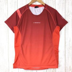 スポルティバ クイックドライ クルーネック Tシャツ ポリジン永続的防臭加工済み SPORTIVA International MEN's M レッド|2ndgear-outdoor
