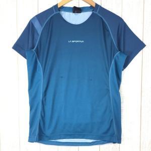 スポルティバ クイックドライ クルーネック Tシャツ ポリジン永続的防臭加工済み SPORTIVA International MEN's M ブルー|2ndgear-outdoor