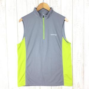 モンベル クール ノースリーブジップシャツ MONTBELL 1104932 Asian MEN's L グレー系|2ndgear-outdoor