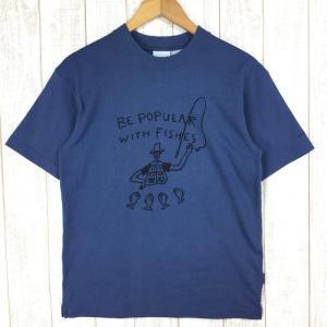 コロンビア フィッシュ ベイシン Tシャツ 80周年記念モデル 入手困難 COLUMBIA PM1502 MEN's S ネイビー系|2ndgear-outdoor