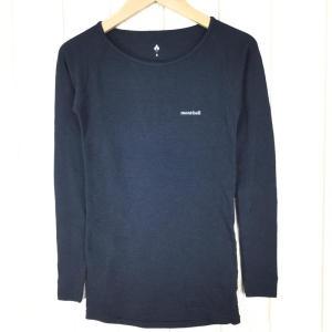 モンベル ジオライン M.W. ラウンドネックシャツ MONTBELL 1107283 Asian WOMEN's S ブラック系|2ndgear-outdoor