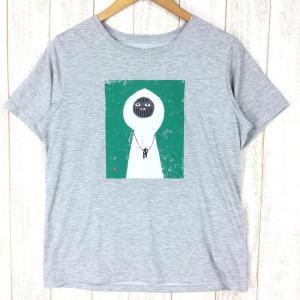 モンベル WIC Tシャツ 白い山男 MONTBELL 1114177 Asian WOMEN's XL グレー系|2ndgear-outdoor