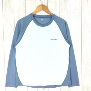 モンベル WIC.ラグラン ロングスリーブT MONTBELL 1114130 Asian MEN's M ブルー系|2ndgear-outdoor