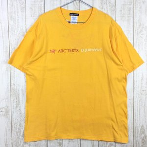 【MEN's XL】アークテリクス 90s EQUIPMENT ビッグロゴ Tシャツ OLD ARCTERYX オレンジ系 2ndgear-outdoor