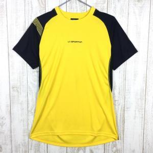 MENs S スポルティバ モーション Tシャツ Motion T-Shirt SPORTIVA J50 イエロー系|2ndgear-outdoor