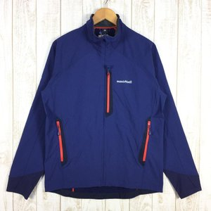 モンベル クラッグ ジャケット ソフトシェル MONTBELL 1106555 Asian MEN's L IND インディゴ ネイビー系|2ndgear-outdoor